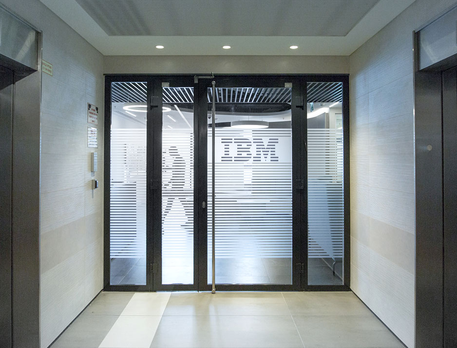 Ibm Glass Logo Design 63