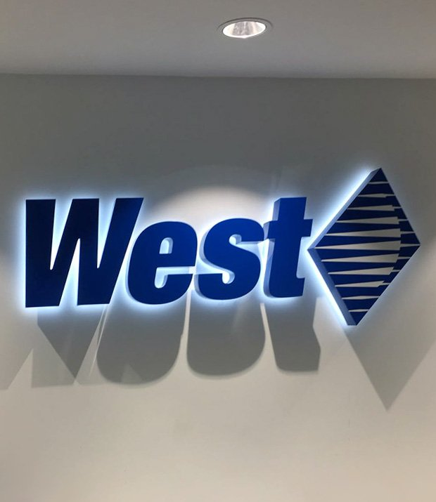 West Light Logo Signage